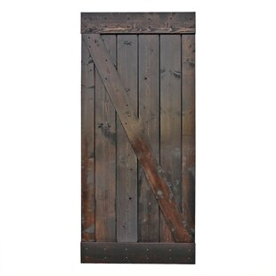 Stain Knotty Pine Sliding Wood Interior Barn Door