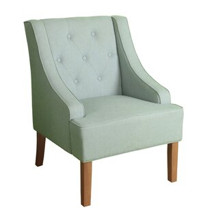 Palomino Fabric Upholstered Wooden Side Chair by Charlton Home