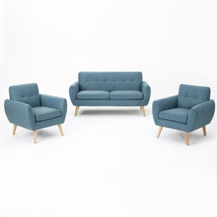 Erinn 3 Piece Living Room Set by Zipcode Design
