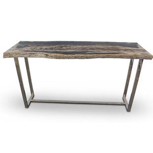 Union Rustic Plympton Raw Edge Console Ta..