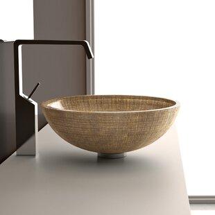 Atelier Verona Glass Circular Vessel Bathroom Sink ByMaestro Bath