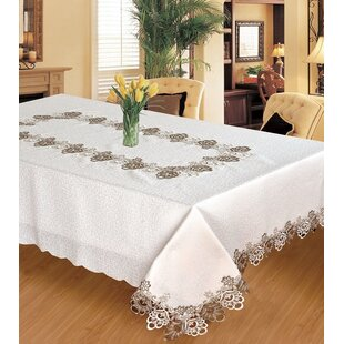 Elettra Embroidered Lace Tablecloth