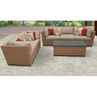 Medina 6 Piece Outdoor Sofa Seating Group with Cushions