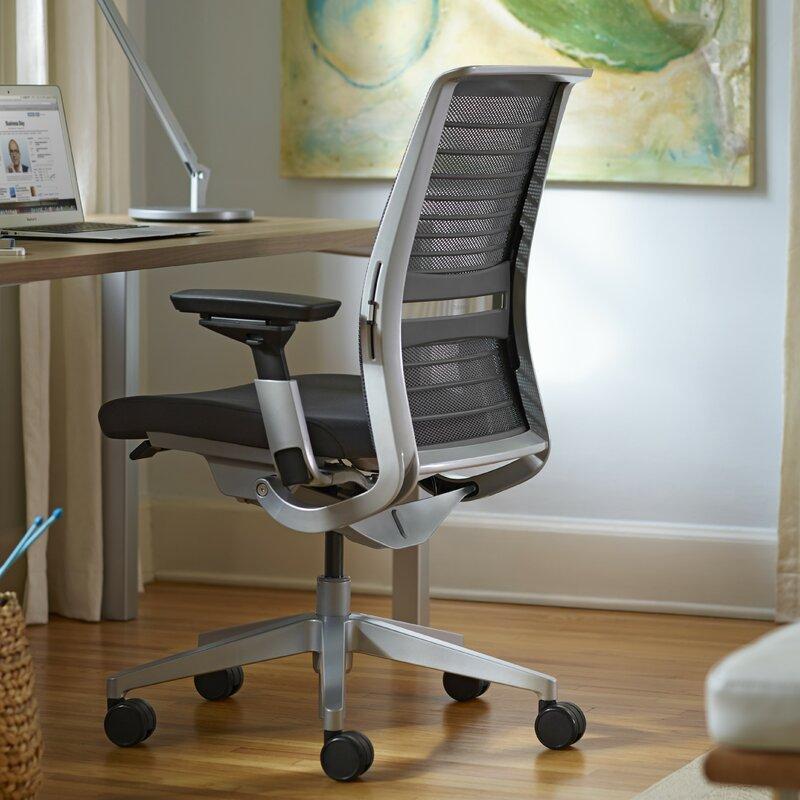 steelcase think 3d mesh desk chair reviews wayfair. Black Bedroom Furniture Sets. Home Design Ideas
