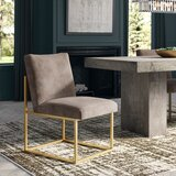 Fiske Upholstered Side Chair in Taupe by Greyleigh™