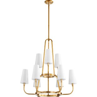 Quorum Highline 9-Light Shaded Chandelier