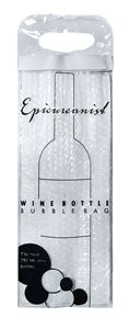 Epicureanist Wine Bottle Bubble Bag Carrier (Set of 2)