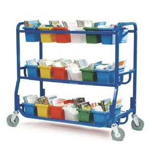 36a23ce5e63 Double Sided 18 Compartment Teaching Cart with Bins