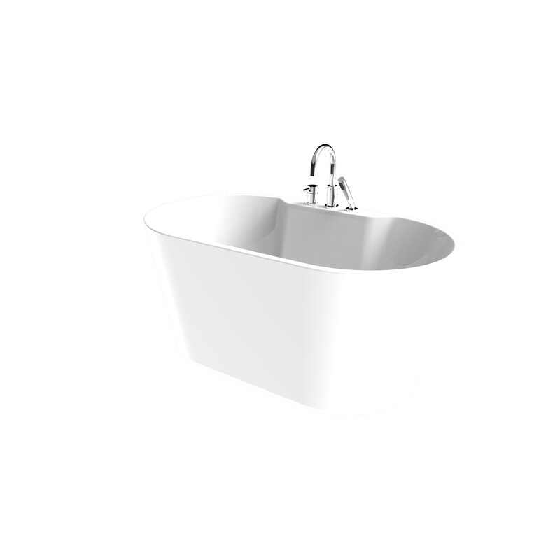 "56"" x 24"" Freestanding Soaking Bathtub"