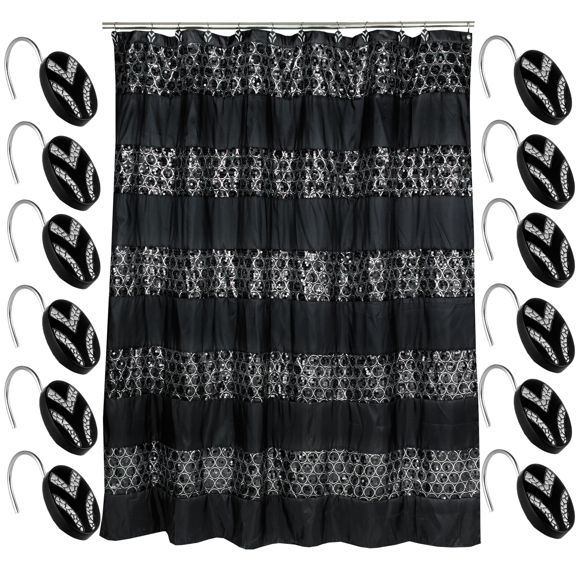 Kristi Luxury Shower Curtain