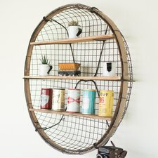 Round Basket Floating Shelf by Longshore Tides