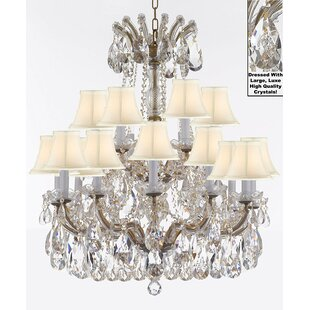 Astoria Grand Carswell 18-Light Chain Shaded Chandelier