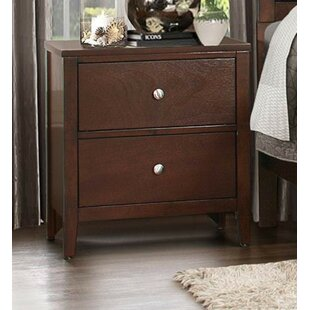 Check Prices Gerner Wood 2 Drawer Nightstand by Red Barrel Studio