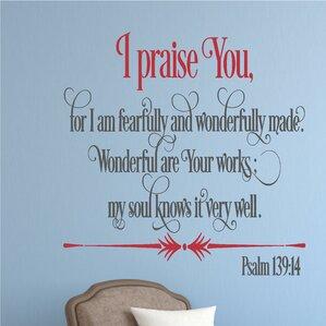i praise you religious bible verse wall decal
