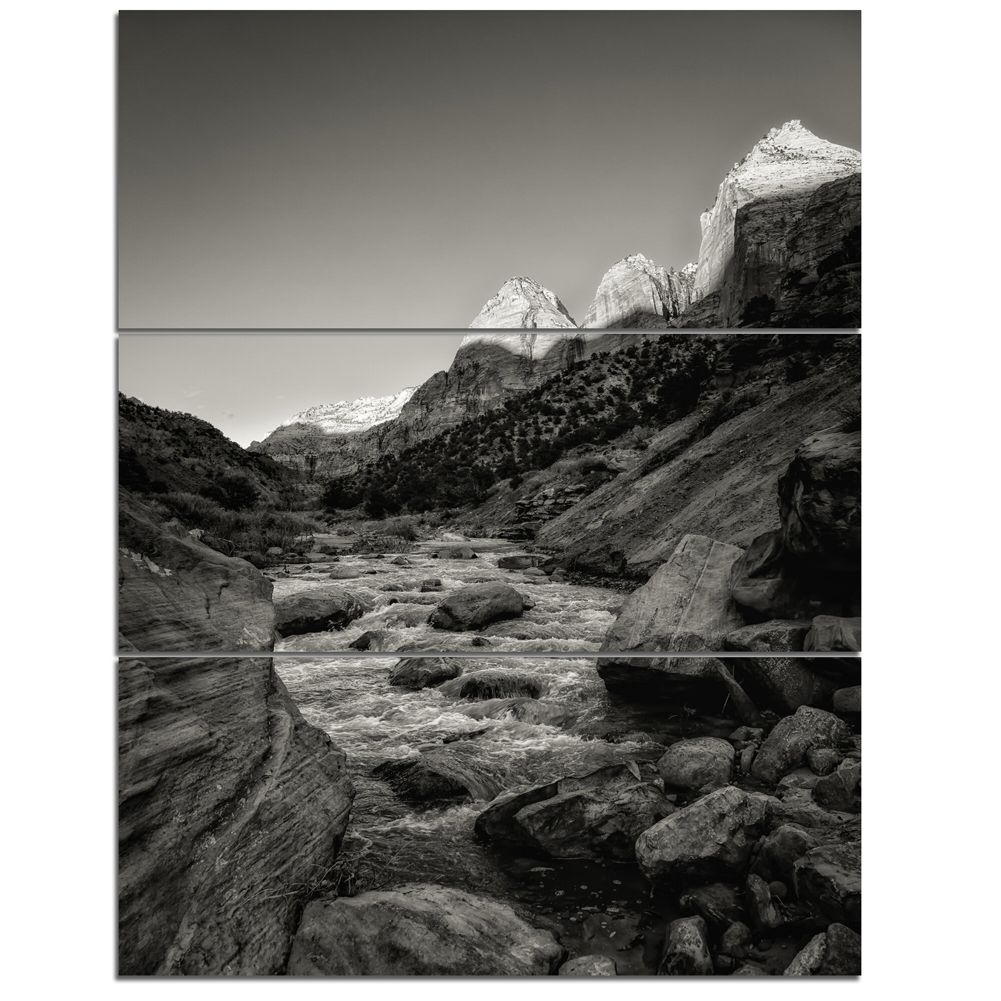Designart Dark Rapid Virgin River Photograph Print Multi Piece Image On Canvas Wayfair