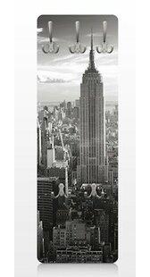Review Manhattan Skyline Vintage Wall Mounted Coat Rack