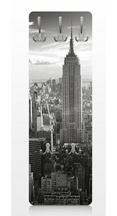 Great Deals Manhattan Skyline Vintage Wall Mounted Coat Rack