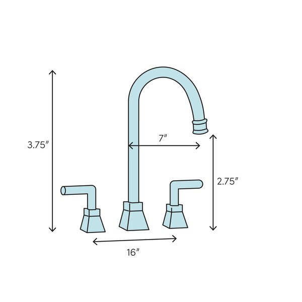 Elements Of Design Americana Widespread Bathroom Faucet With Drain Assembly Wayfair