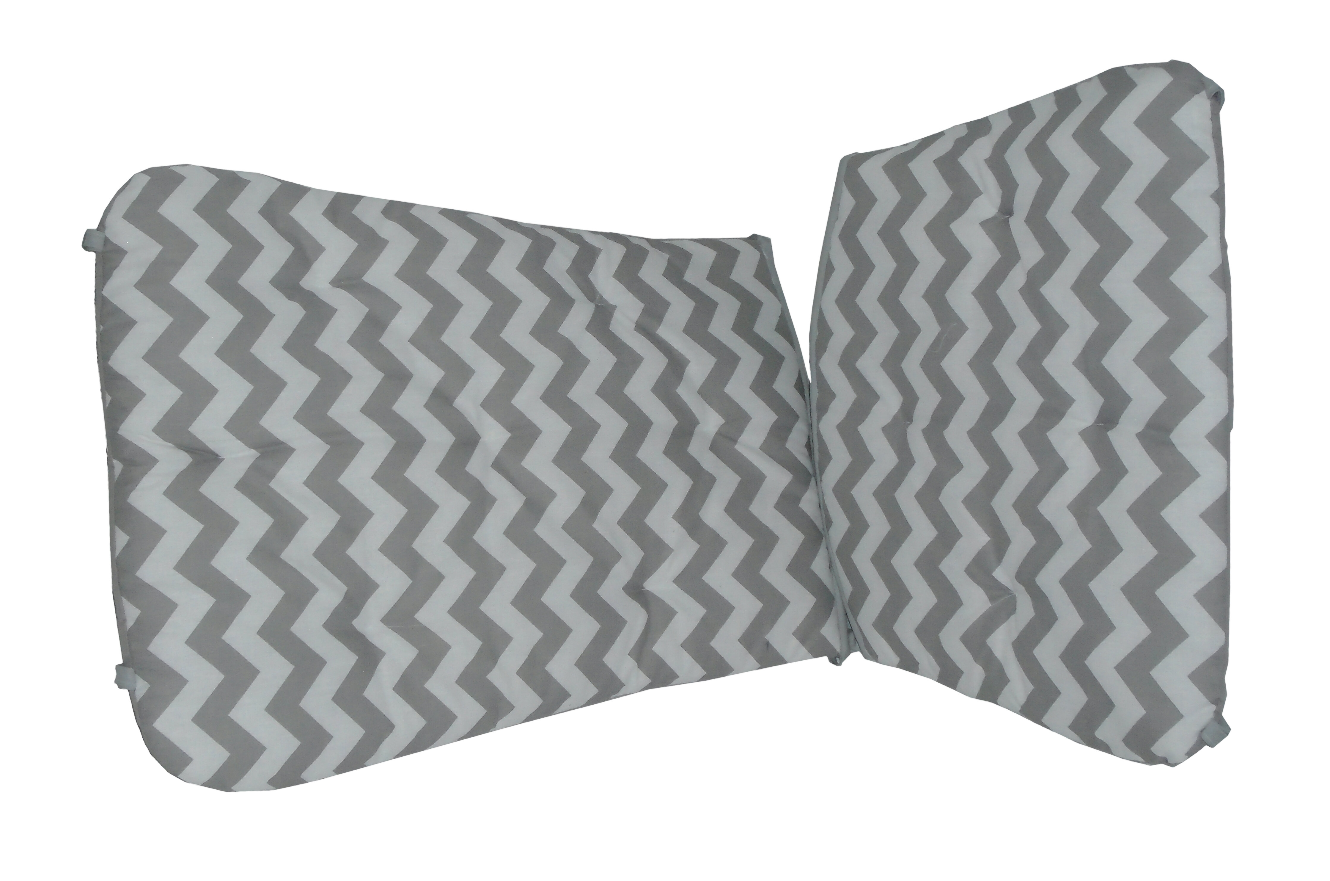 Baby Doll Bedding Solid Reversible Junior Rocking Chair Pads Grey//Pink