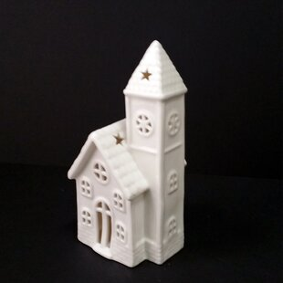 The Holiday Aisle Christmas LED Lighted Handmade Ceramic House