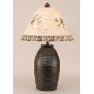 Coast Lamp Mfg. Rustic Living Ginger Jar Ribbed Pot 28.5