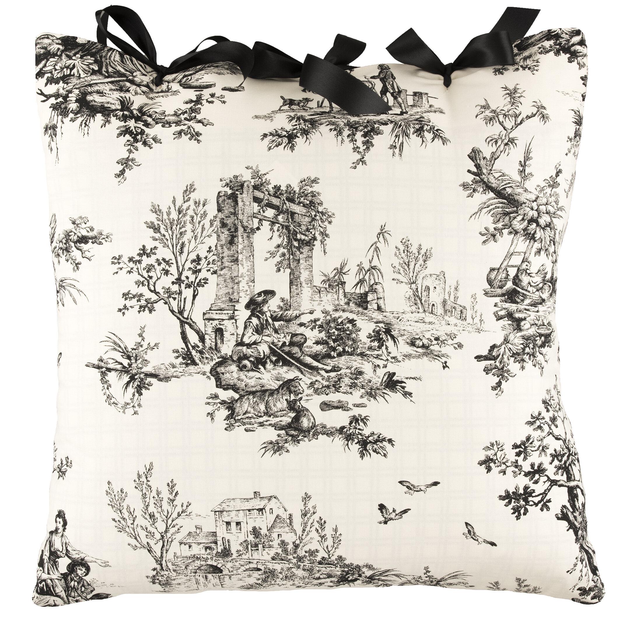 August Grove Delania Ribbon Tie Cotton Throw Pillow Wayfair