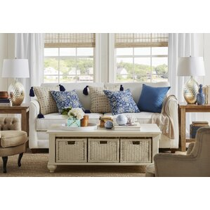 Cutler White Coffee Table by Klaussner Furniture