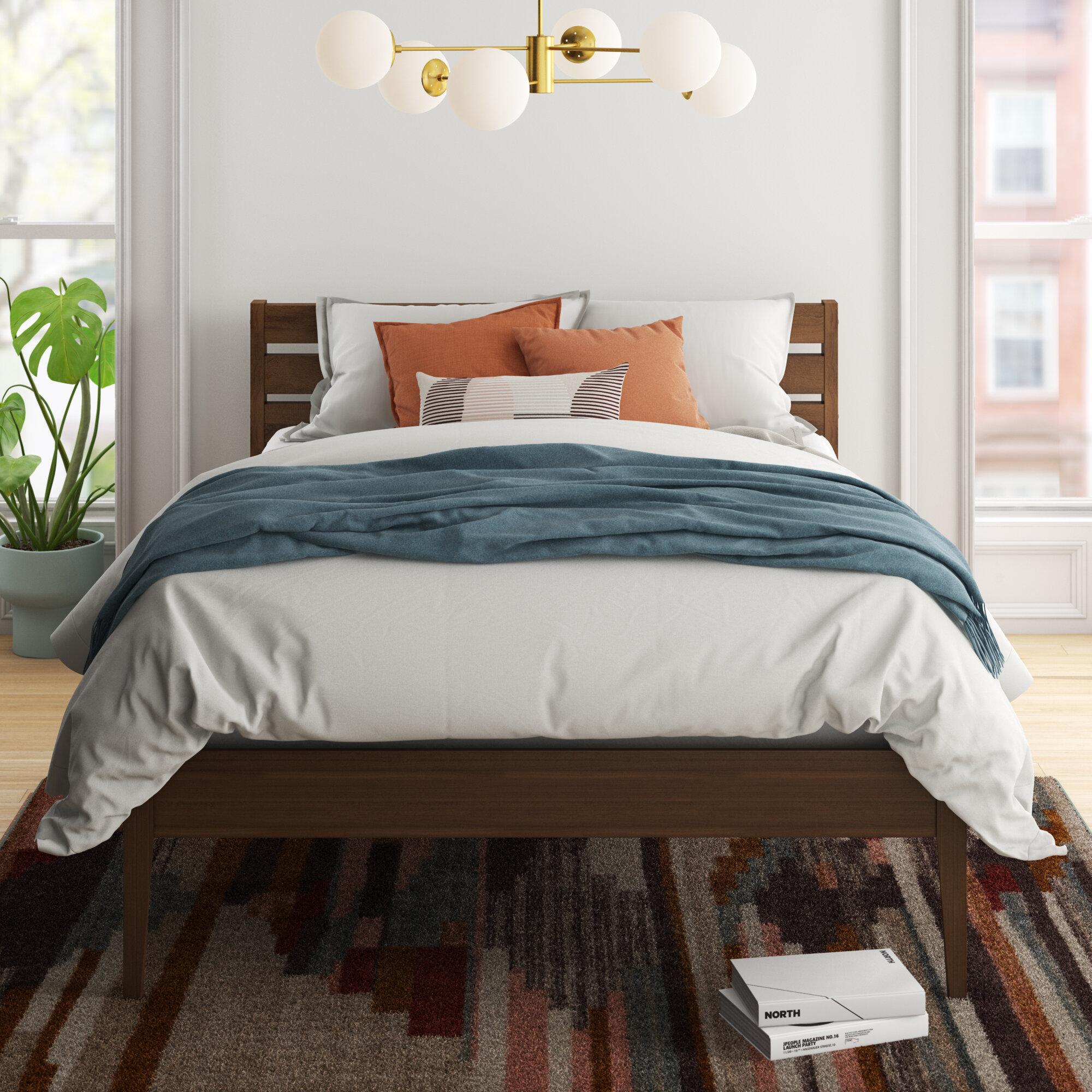 Mercury Row Ailey Solid Wood Platform Bed Reviews Wayfair