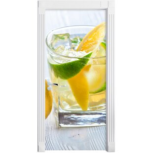Gin Tonic Shot With Lemons Door Sticker By East Urban Home