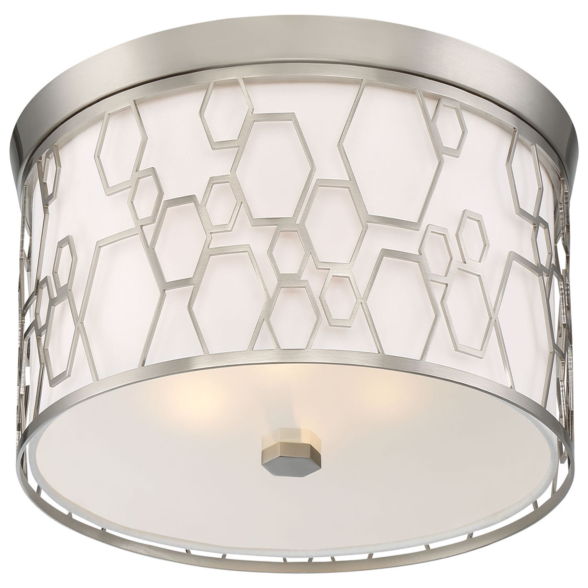 Minka Lavery 1 Light 17 Unique Statement Drum Led Flush Mount Wayfair