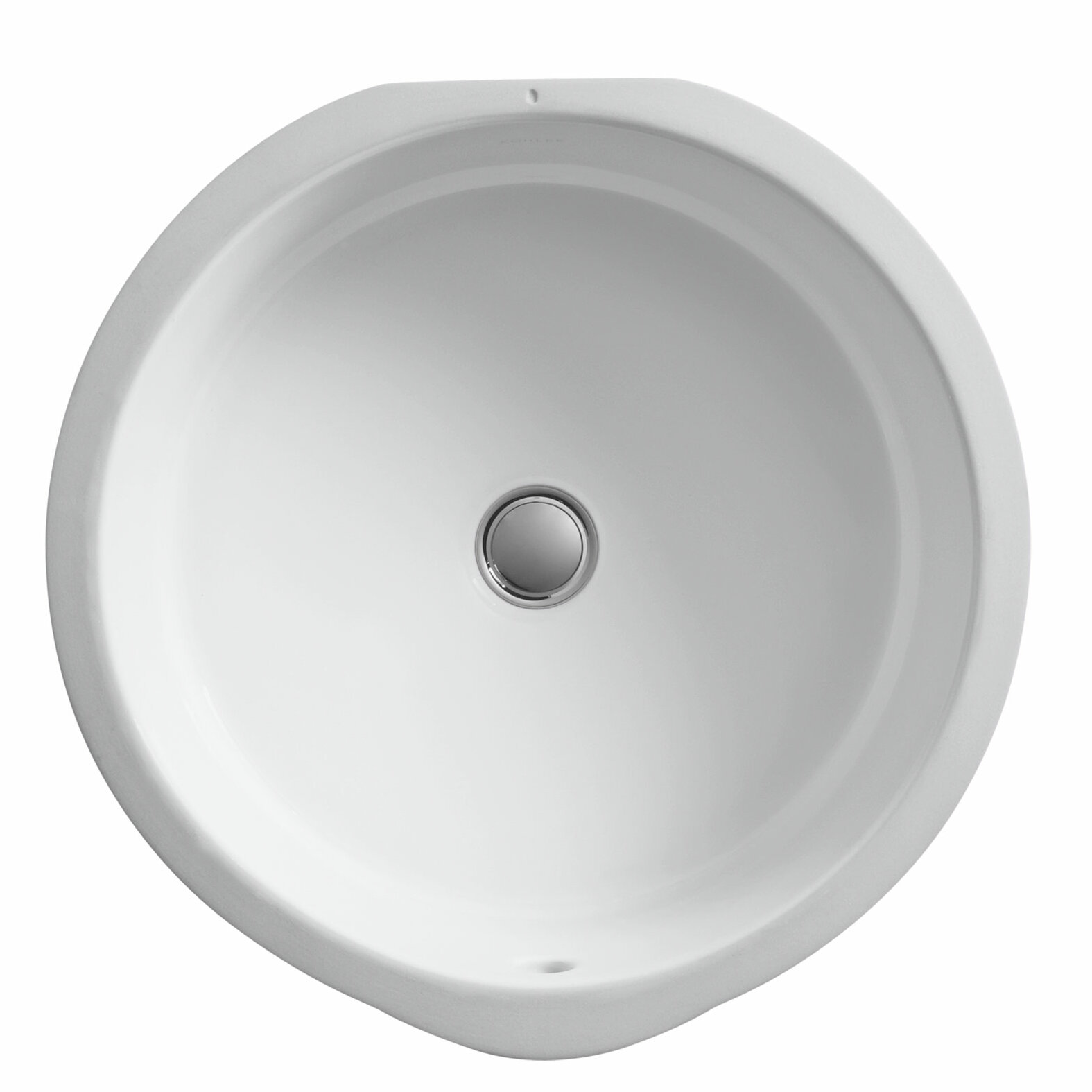 Kohler Verticyl Ceramic Round Undermount Bathroom Sink With Overflow Reviews Wayfair