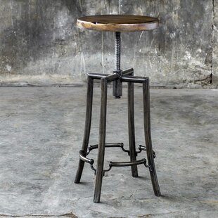 Oscar Adjustable Height Swivel Bar Stool 17 Stories