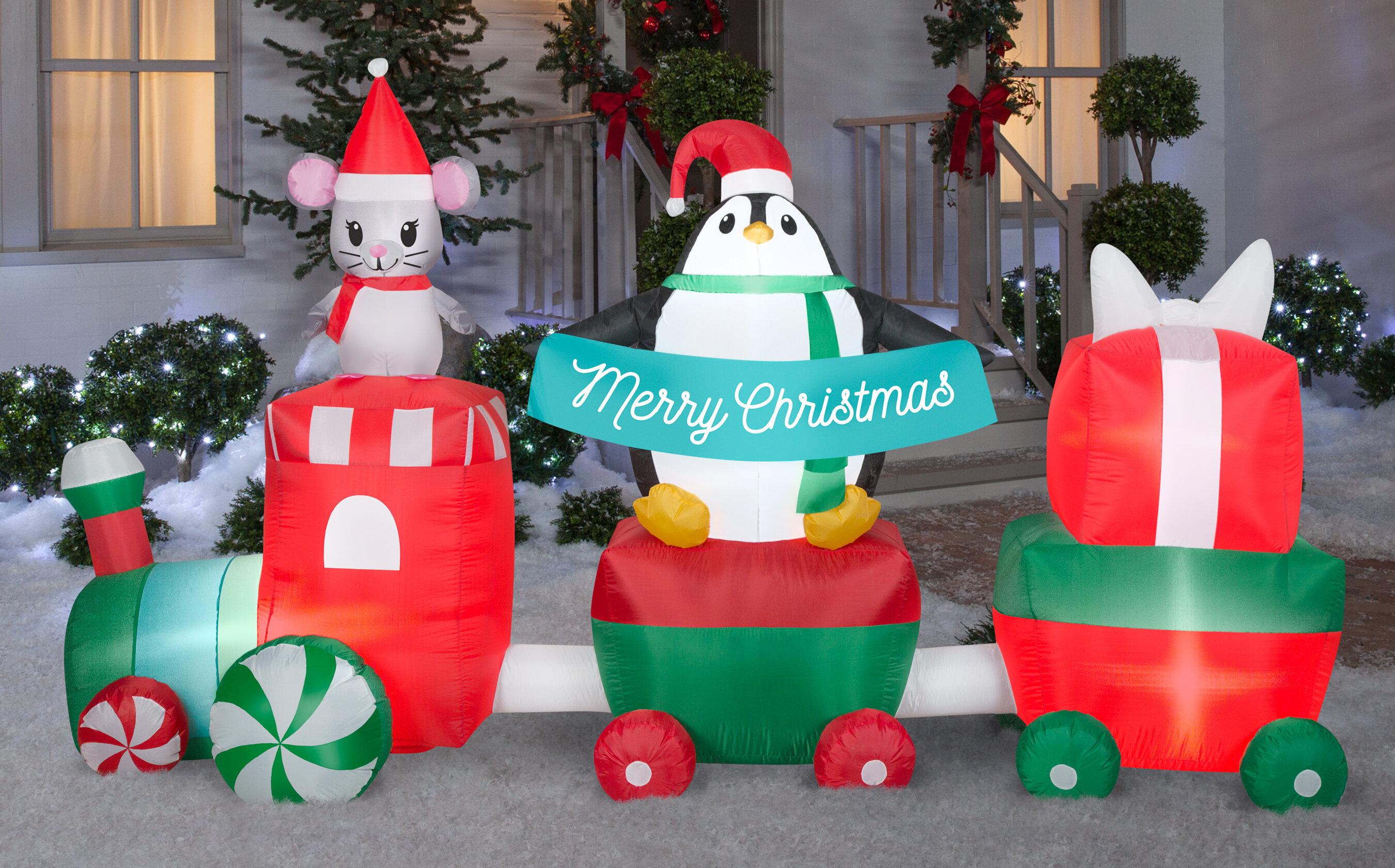 Christmas Train Scene Inflatable