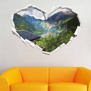 Chalet With Beautiful Surroundings Wall Sticker By East Urban Home