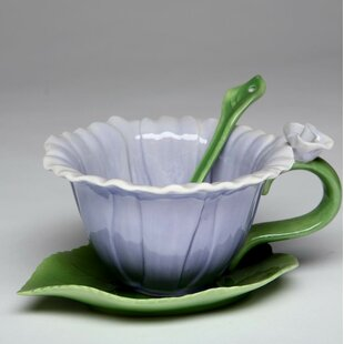 Queenstown Dahlia Cup and Saucer Set (Set of 2)