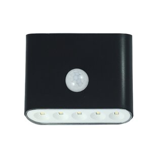 Shockley LED Battery Operated Outdoor Security Flood Light with Motion Sensor