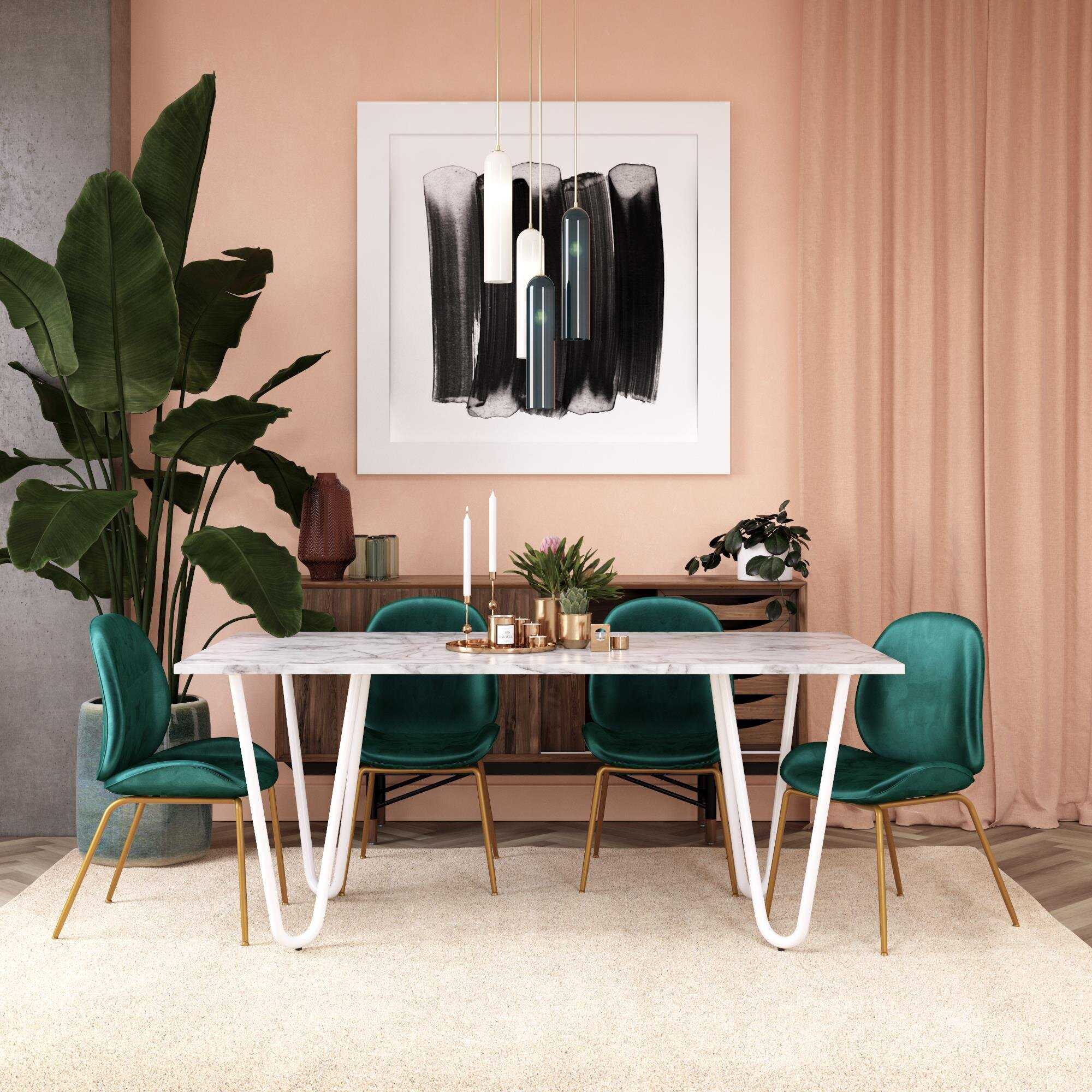 Cosmoliving By Cosmopolitan Mulberry Dining Table Wayfair