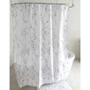 Top Humphries Marble Fabric Shower Curtain ByBrayden Studio