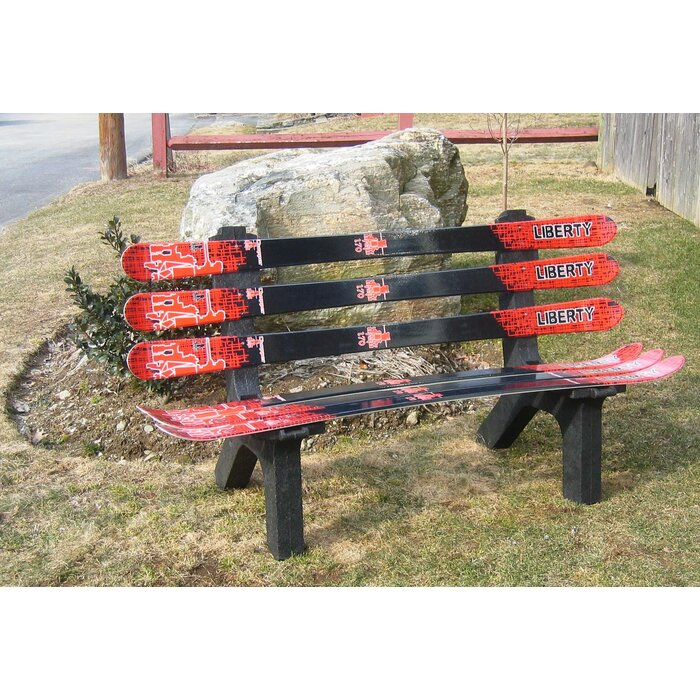 Beautiful Snow Board Recycled Plastic Garden Bench Part 26
