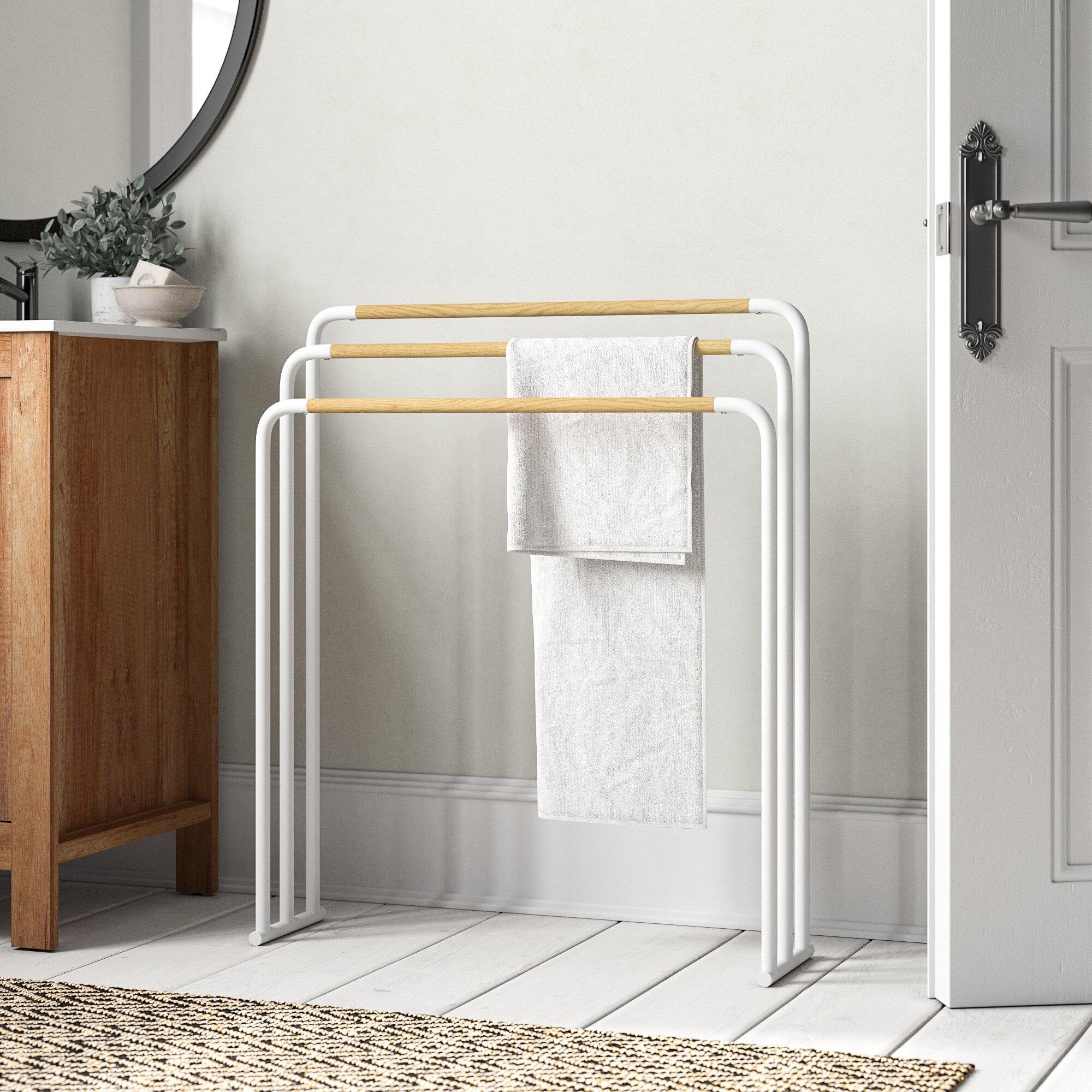 Freistehender Handtuchhalter aus Chrom platzsparend ohne Bohren mit diesem eleganten freistehenden Handtuchhalter f/ür das Badezimmer