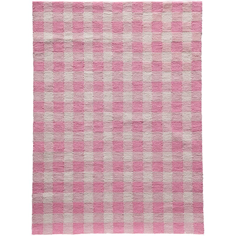 August Grove Violet Hand-Woven Pink Area Rug, Size: Rectangle 76 x 96