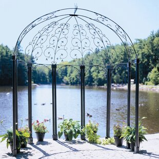 ACHLA Euphony Pavilion 7.5 Ft. W x 5.5 Ft. D Metal Patio Gazebo