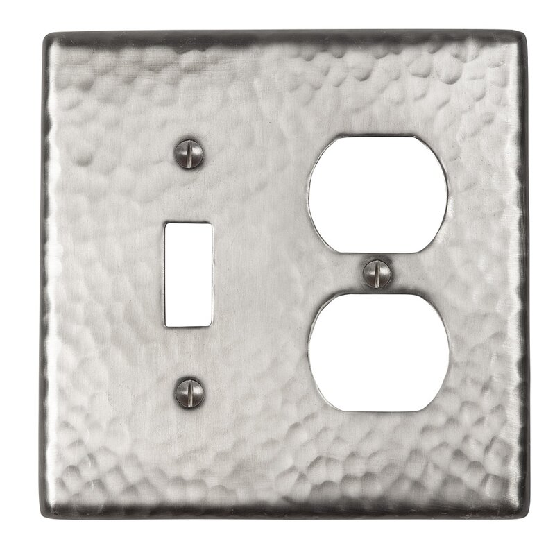 Light Switch Covers Home Decor Outlet Brushed Texture Gray Grey Pattern