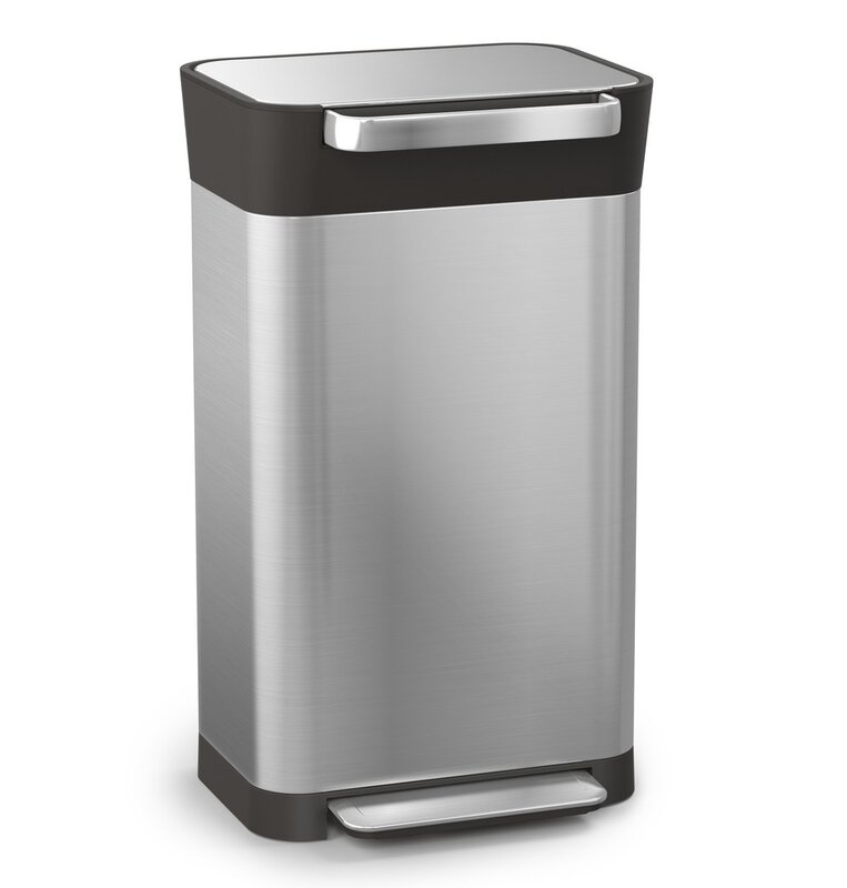 Intelligent Waste An Stainless Steel 8 Gallon Step On Trash Can Compactor
