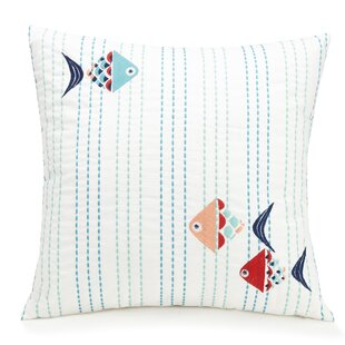 Go Fish Cotton Throw Pillow