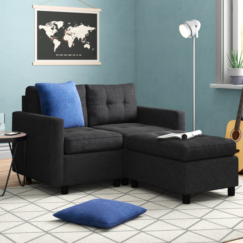 Three Posts™ Bainville Reversible Modular Sectional With Ottoman & Reviews | Wayfair