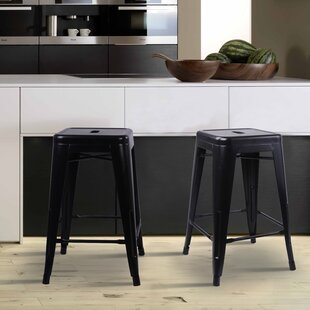 Compare Caine 24 Bar Stool (Set of 2) by Williston Forge Reviews (2019) & Buyer's Guide