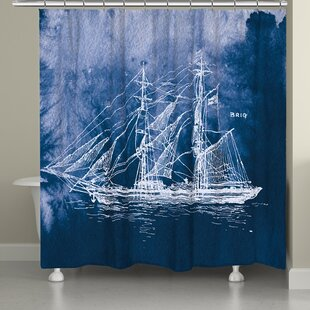 Edgeworth Nautical Sailing Ship Single Shower Curtain