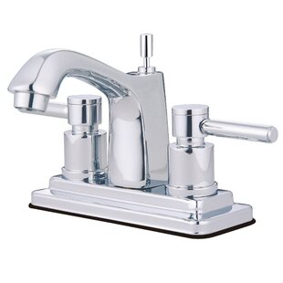 South Beach Centerset Bathroom Faucet with Brass Pop-Up By Elements of Design