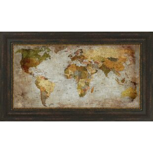 World Map Wall Art - Decorative maps for sale